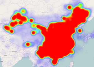 China heat map